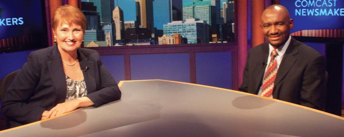 Nasibu Sareva, ADC Executive Director, at the Comcast Newsmakers program