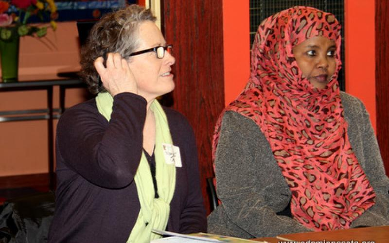 Participant asks questions of the group