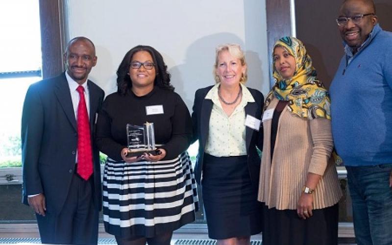Recipients of Husein Samatar Community Service Award with Nasibu Sareva