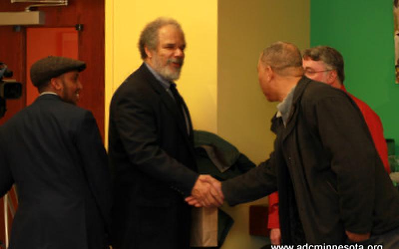 William Green greets participants