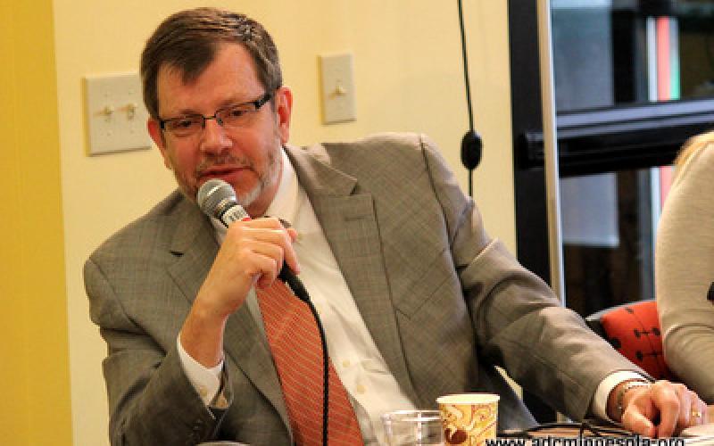 Eric W. Kaler speaks at round table