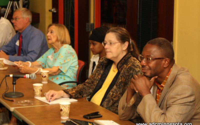 Participants listen to remarks by Dr. Bernadeia H. Johnson