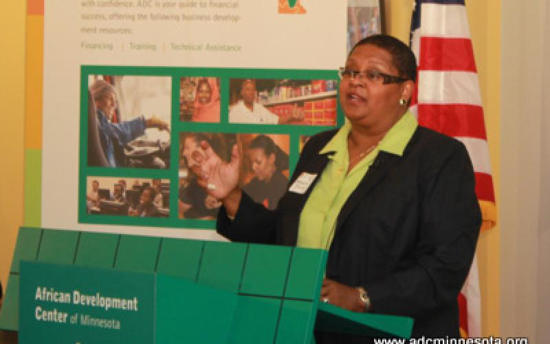 Dr. Bernadeia H. Johnson, Superindendant of Minneapolis Public Schools addresses roundtable