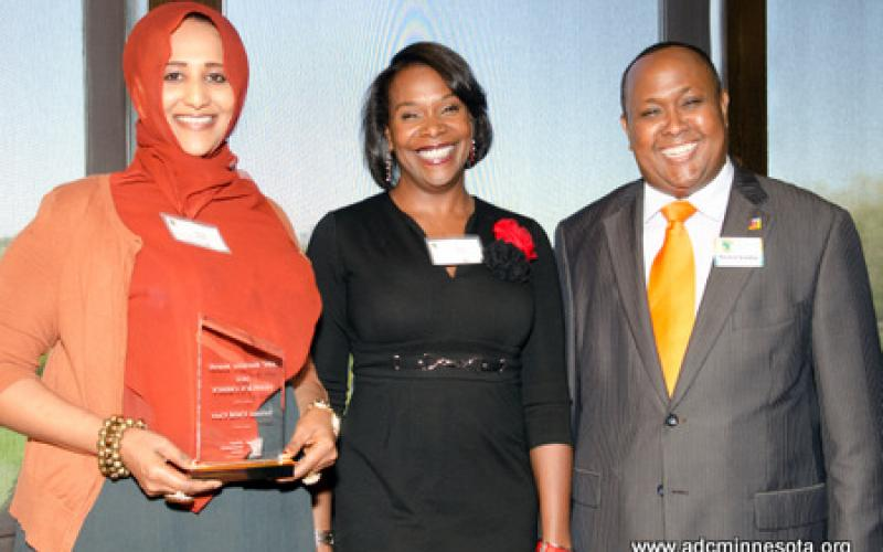 People's Choice award winner Somala Child Care Center with Hussein Samatar