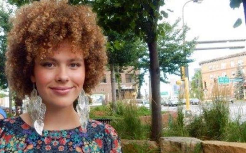 Kristy Wilson outside Uptown Curl